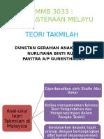 TEORI TAKMILAH