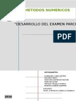 Solucionario Del examen Parcial - Metodos Numericos -Grupo 4