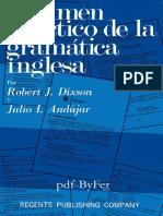 Resumen Práctico de La Gramática Inglesa