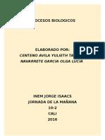 PROCESOS BIOLOGICOS