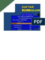 Daftar Nilai Kur 2013 Smp