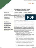 Central Seat Allocation Board 2015