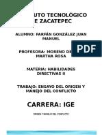 Manejo Del Conflicto Habilidades directivas