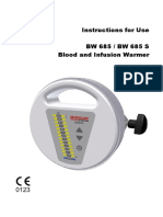Biegler Infusion+Blood Nwarmer BW 685 - User manual