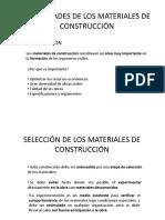 PROPIEDADES DE LOS MATERIALES DE CONSTRUCCIÓN