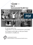 A Family Guide 20 Easy Steps to Personal Environmental Health Now 508