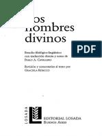 Dionisio Areopagita - Los Nombres Divinos (Selección)