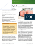 Childrens Health Why the Environment Matters 508