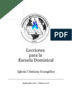 Lecciones Escuela Dominical Ice 2016