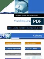 MELJUN Programming Languages Lecture