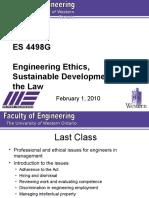 ES 4498G Lecture 5 - 2010