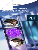 Postdoctoral Training Opportunities at the National Toxicology Program 508
