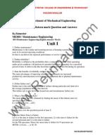 MAINTENANCE ENGINEERING Q&A.pdf