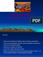 SOCIOLOGY AND RELIGION