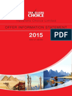 Travellers Choice Offer Information Statement 2015