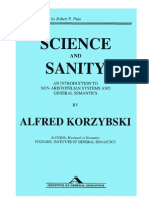Alfred Korzybski Science and Sanity
