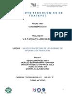 Marco conceptual de las normas de información financiera