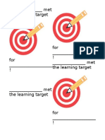 learning target awards