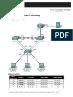 Lab 6.4.1 Challenge Inter-VLAN Routing