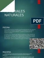 MATERIALES NATURALES MATERIALES NATURALES