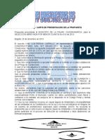 Carta Presentacion Roceria