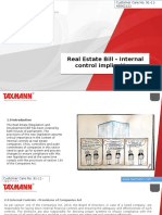 Real Estate Bill - Internal control implications