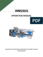 WM250G Operation Manual 60