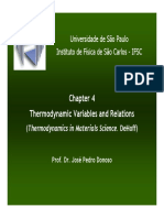 Thermodynamic Variables and Relations