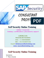 Introduction to SAP Security Online Training @ Maxonlinetraining.com
