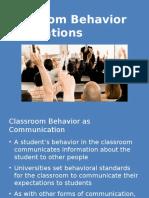 M7L2 PPT Classroom Behavior Expectations