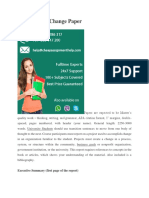 Organization Change Paper