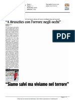 """""""A Bruxelles con l'orrore negli occhi"""" - Il Corriere Adriatico del 24 marzo 2016"""
