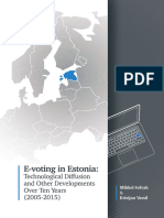 e Voting in EstoniaE-voting in Estonia:Technological Diffusion  and Other Developments Over Ten Years (2005 - 2015) Vassil Solvak a5 Web