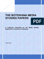 The Botswana Media Studies Papers Vol 3