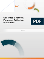 InfoVista Xeus Pro 5 Call Trace & Network Parameter Collection Procedures