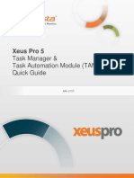 InfoVista Xeus Pro 5 Task Manager & TAM Quick Guide