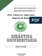 _DISEÑO CURRICULAR CURSO DE DIDÁCTICA UNIVERSITARIA F.C.E