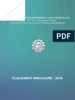 VRSCET - Placement Brochure 2015-16