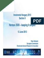 Horizon 2020 Keeping It Simple PeterHartwich2013.06.11-12