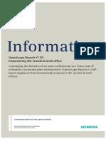 OpenScape Branch V1, Data Sheet, Issue 4