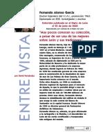 entrevista a Fernando Alonso García
