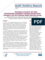 Estimated Prevalence of Autism and Other Developmental Disabilities Following Questionnaire Changes in the 2014 National Health Interview Survey