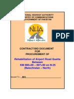 Bid Document Airport Road Quetta