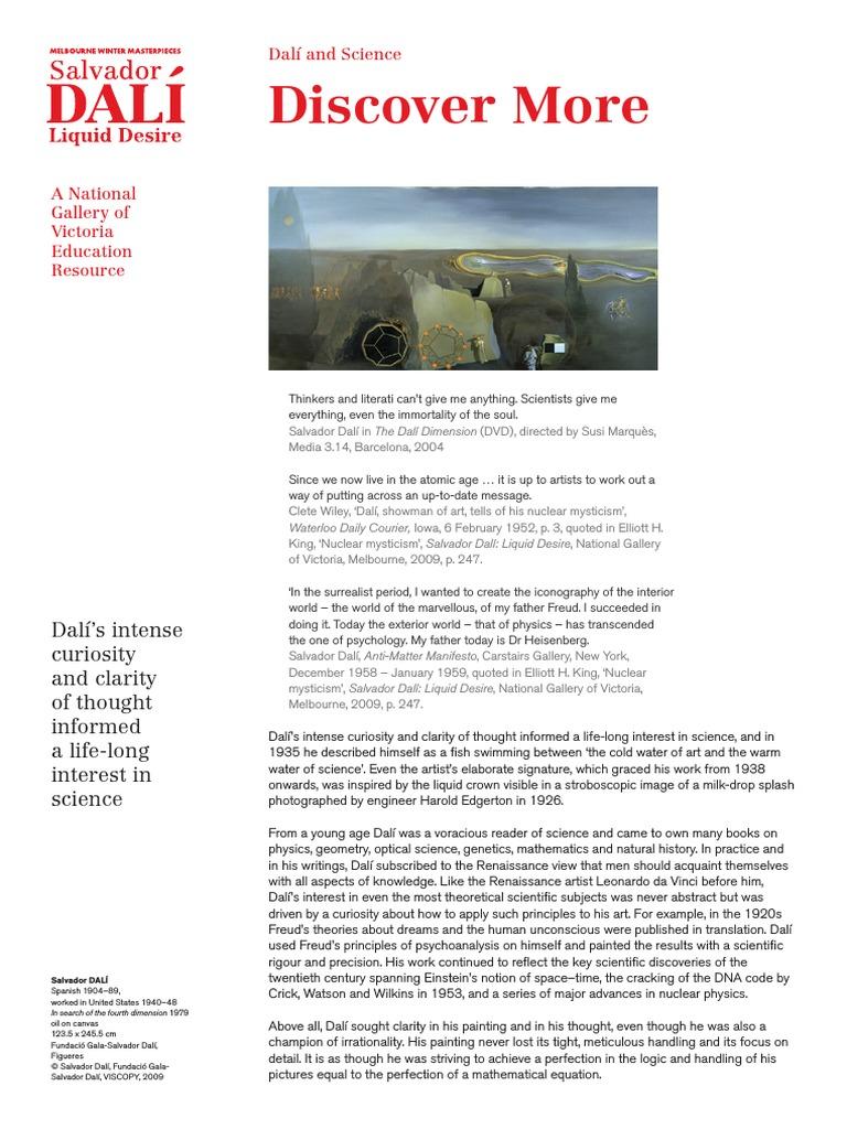 Dali and the silance pdf | Salvador Dalí | Holography