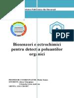 Biosenzori Electrochimici Pentru Detectia Poluantilor Organici