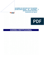Agenda Institucional Do Governo Do Estado Do Tocantins 14-03-2016