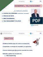 Presentación de Jorge Pereira - Costes, Ingenieria Menus y Yield Management