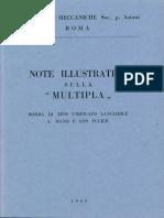 """Note illustrative sulla """"Multipla"""" - Bomba di tipo unificata lanciabile a mano e con fucile"""