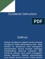 Duodenal Ostruction