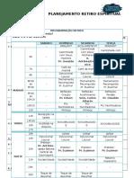 Planejamento Programação Retiro Espiritual 2016